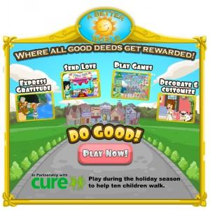 a better world - cure משחק פייסבוק